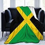 Dujiea Lightweight Cozy Bed Blanket Jamaica Flag Large Super Soft Throw Blanket 60'x80', Fleece Blanket fits Couch Sofa Bed for Kids Men Women