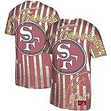 Mitchell & Ness NFL Jumbotron Sublimated Tee San Francisco 49ers - Camiseta, color rojo, Escarlata., XXL