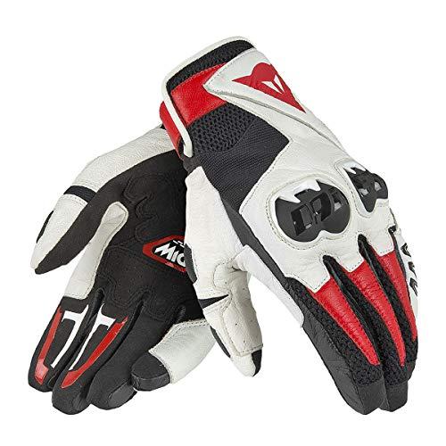 Dainese Mig C2 Unisex Motorradhandschuhe,Mehrfarbig (Schwarz/Weiß/Lava-Rot) Größe M
