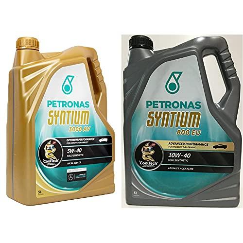 Petronas Pet5405 Aceite De Motor Syntium 3000 Av 5 Litros, Multicolor, 5W40 5L + Syntium Aceite de motor 18165015, 800Eu, 10W40, 5 Litros