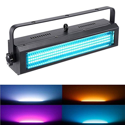 Strobe Light, MFL S100 132LED RGB Stage Lighting Strobe Blinde and Wash Light DJ Disco Lights Sound Activated Modes DMX control All in One for Dj Party Stage Lives Concert
