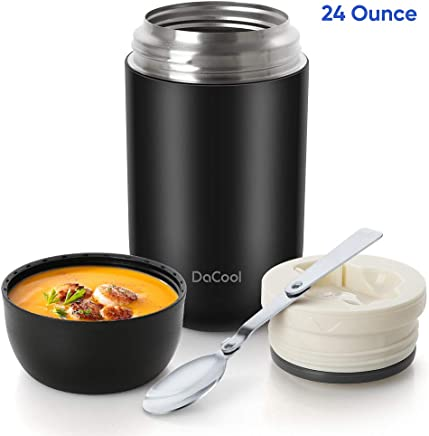 DaCool Hot Food Jar 24 oz Insulated Lunch Container Keep...
