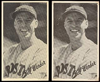 1936 Goudey R314 wide pen type 1 (Baseball) Card# 116 bill werber/portrait of the Boston Red Sox VGX Condition