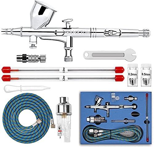 GANZTON Airbrush Set Double Action Trigger Paint Spray Gun Kit Professional...
