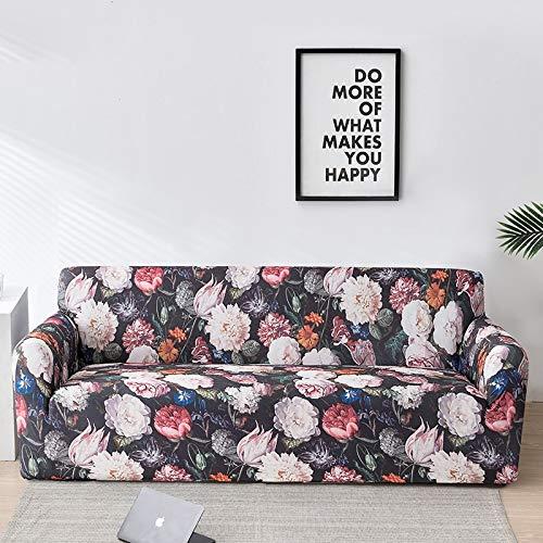 Fundas de sofá Florales para Sala de Estar Funda elástica para sofá Fundas para sofá Fundas para sofá Toalla para sofá Fundas sofás con Chaise Longue A22 2 plazas