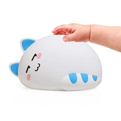Night Light for Kids, Baby Cute Cat Soft Silico...