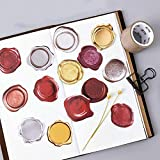 135 Pcs/3 Sets Vintage Wax Stamp Stickers Self Adhesive PVC Sticker Round Shaped Envelope/Bag Seal Decor with Box by EORTA for Diary Planner Craft Scrapbook DIY Gift, Kids, Students, Wax Stamp Theme