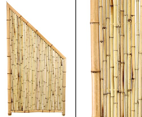 bambus-discount.com Bambus Abschlusselement Ten New Line5 180/90x90cm Sichtschutzwand Sichtschutzelement Sichtschutz Gartenzaun Zaunelement Sichtschutzwände Gartenzäune