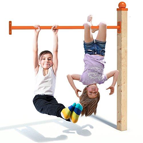 OSKAR Reckstange 125cm in orange als Zubehör für Spieltürme - Pulverbeschichtet