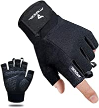 Atercel Workout Gloves, Best Exercise Gloves for Weight Lifting, Cycling, Gym, Training, Breathable & Snug fit, for Men & Women (Black, L)