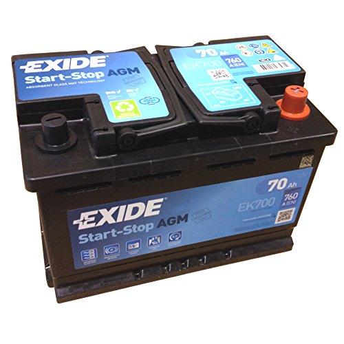 EXIDE AGM Start-Stopp-Batterie EK 700 EN (A): 760 12V 70AH neuestes Model 2014/15