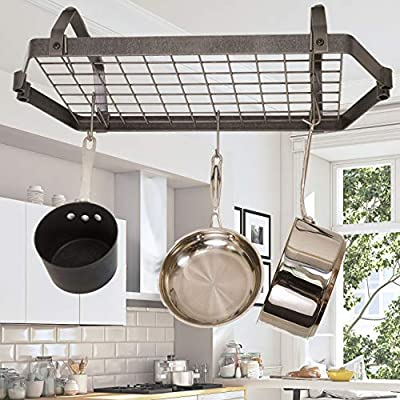 Enclume Decor Low-Ceiling Retro Rectangle, Regular, Hammered Steel from Enclume