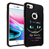 Cheshire Quotes iPhone 6S Plus Case, IMAGITOUCH 2-Piece Style Armor Case with Flexible Shock Absorption Case and Cheshire Cat Quotes Cover Case for iPhone 6S Plus / 6 Plus– Cheshire Quotes