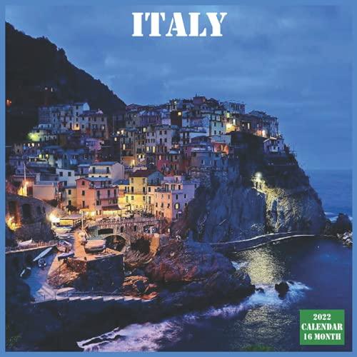 Italy Calendar 2022: Official Italy Country Calendar 2022, 16 Month Calendar 2022