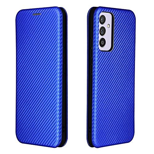 Teléfono Flip Funda Para Samsung Galaxy A82 5G Case, para Samsung Galaxy Quantum 2 Case, Fibra de carbono de lujo PU y TPU Caja Híbrida Protección completa Flip Funda Funda Tapa trasera del teléfono i