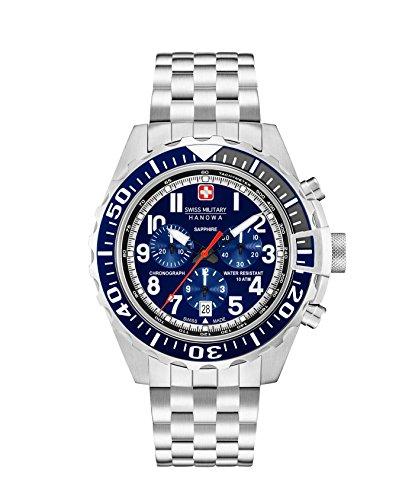 Swiss Military Herren Chronograph Quarz Uhr mit Edelstahl Armband 06-5304.04.003