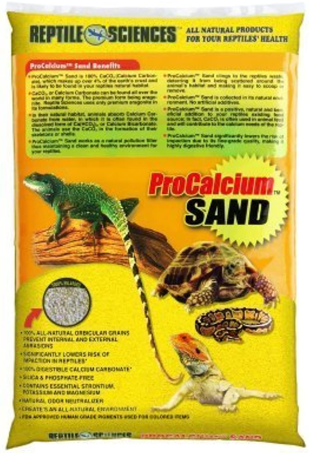 Reptile Sciences Terrarium Sand, 10Pound, Bright Yellow by WORLD WIDE IMPORTS ENT., INC.