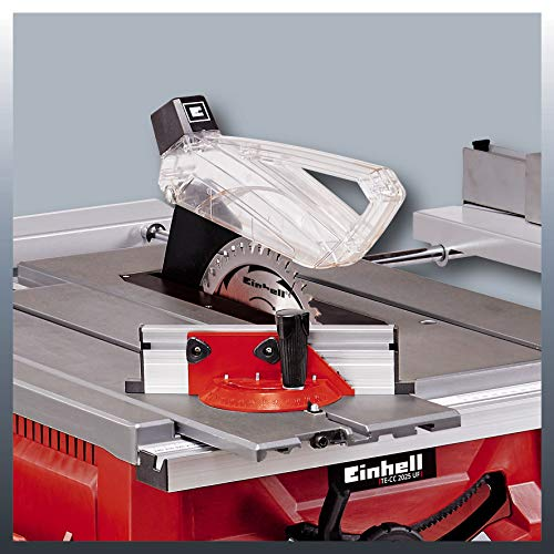 Einhell Bench-Type Circular Saw TE-CC 2025 UF (2000 W, Extra-Wide Stop Rail, Format Slide, Saw Blade with 2-in-1 Height/Angle Adjuster)