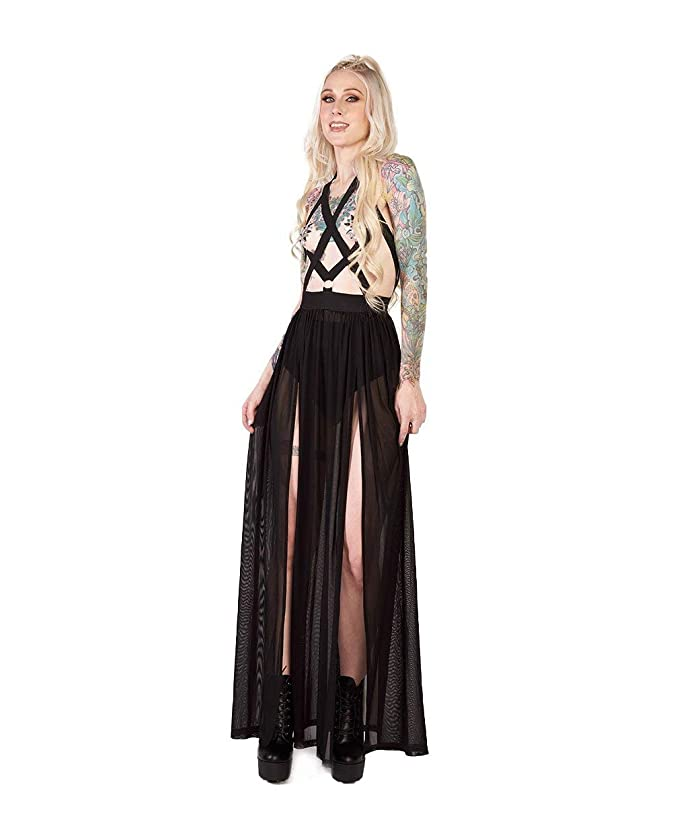 iHeartRaves Women's Sheer Mesh Cutout Rave Festival Dresses