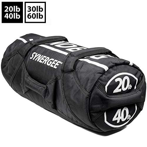 Synergee Adjustable Sandbag for Fitness - Up to 40lbs - Adjustable Filler Bags - Heavy Duty Weight Bag
