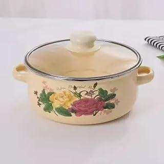 Olla LGFSG Olla de esmalte olla de esmalte olla de esmalte espeso olla sartén olla estofado estufa de gas cocina olla aislamiento, 20 cm 2.0L