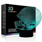 Tiscen 3D Illusion Night Light, LED Table Desk Lamps, Football Helmet Nightlights, 7 Colors USB Charge...