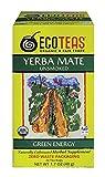 ECOTEAS Organic Unsmoked Yerba Mate Green Energy 24 Tea Bags (Pack of 6)