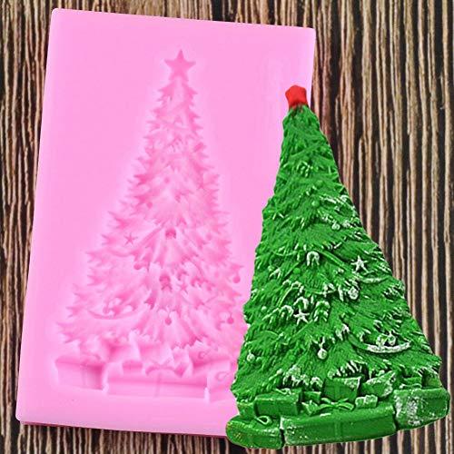 WYNYX 1 Unid Molde de Silicona para Árbol de Navidad Moldes de Fondant Herramientas de Decoración de Pasteles Molde de Pasta de Goma de Chocolate Moldes para Hornear de Cocina