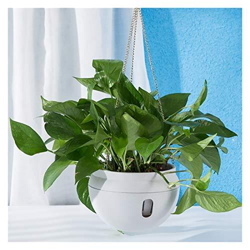 JSJJRFV Maceteros Multicolor Modern Style Automático Flor de riego Pote Interior y al Aire Libre Colgando de la Maceta de la succión del Agua con Gancho (Color : White)