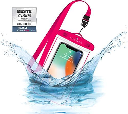 BLACKROX wasserdichte Handyhülle - Handyschutz Wasserfeste Handytasche Cover Beutel Beachbag Tasche Handy Hülle Waterproof Case iPhone X/XS 8 7 6s Samsung S10 S9 S8 S7 (Pink)