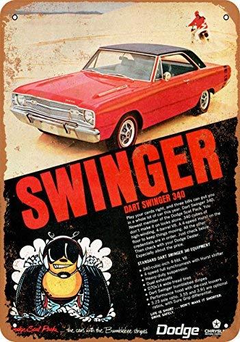 BRILLON 1969 Dodge Dart Swinger 340 Blechschild, Vintage-Look, 20,3 x 30,5 cm