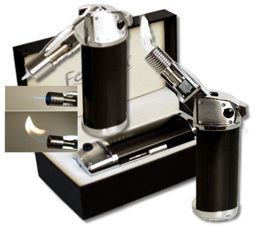 Lifestyle-Ambiente Lifestyle-Ambiente Formula Design Tischfeuerzeug mit Jet - Soft - Normalflamme Black Schwarz