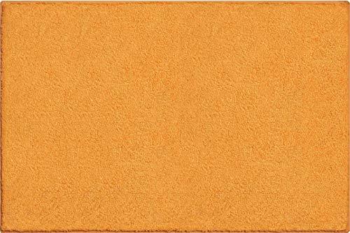 Grund Badteppich 100% Baumwolle, ultra soft, rutschfest, ÖKO-TEX-zertifiziert, 5 Jahre Garantie, MANHATTAN, Badematte 60x90 cm, orange