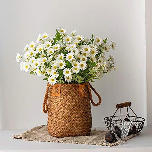JXHB Flor falsa rama larga simulación pequeña margarita crisantemo manzanilla salón decoración falso flor