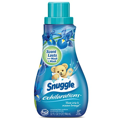 Snuggle Exhilarations Liquid Fabric Softener, Blue Iris & Ocean Breeze, 32 Fluid Ounces, 37 Loads