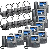 Plantronics -Over-The-Head monaural Wireless Headset System CS510 Cisco Unified IP Phone 7975G (10 Pack) Combo