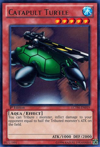 YU-GI-OH! - Catapult Turtle (LCYW-EN019) - Legendary Collection 3: Yugi's World - Unlimited Edition - Rare