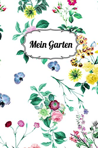 Mein Garten: Notizbuch |120 Seiten| Punkteraster|