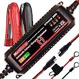 MOTOPOWER MP00207A Caricabatteria Automatico da 12V 2Amp Smart per batterie al Piombo e agli ioni di Litio
