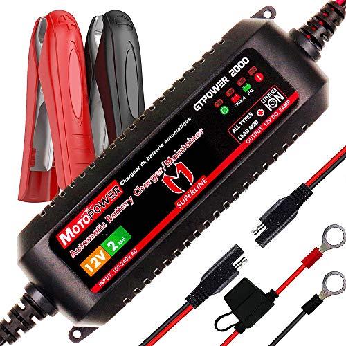 MOTOPOWER MP00207A 12V 2Amp Smart automatische Ladegerät für Bleibatterien und Lithium-Ionen-Batterien