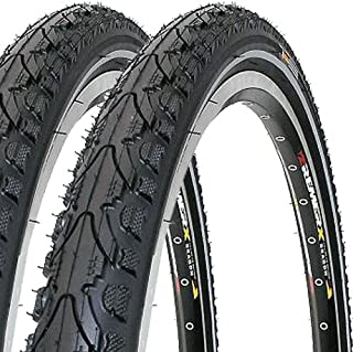 SET 2 x noir//blanc k912 kenda v/élo pneus 20 x 1,75 tuyaux valve