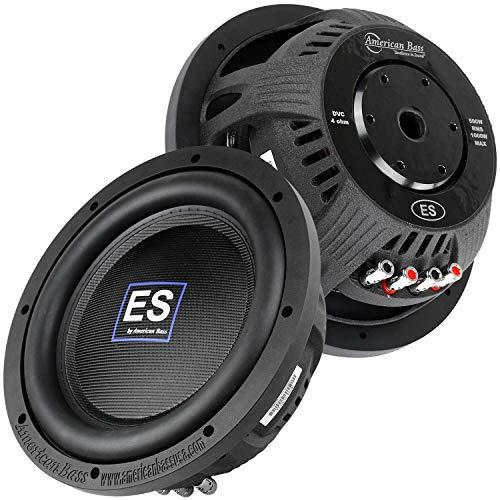 2 Pack American Bass 10' Slim Subwoofer 1000W Max DVC 4 Ohm Car Audio ES-1044