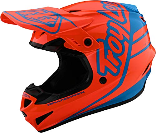 Troy Lee Designs GP HELMET; SILHOUETTE ORANGE/CYAN SM