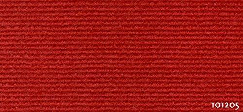 Exclusiv Rips Teppichboden - Recyclingfähiger Nadelvlies 2 m x 0,5 cm Quadratmeterpreis 5,95€ classic-rot