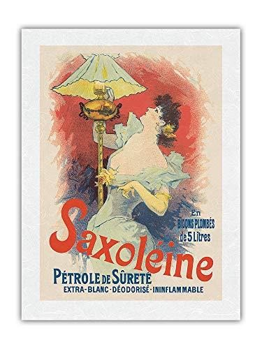 Pacifica Island Art Aceite de lámpara Saxoléine - Póster publicitario de Jules Chéret c.1800s - Impresión de Arte Papel Premium de Arroz Unryu 61x81cm