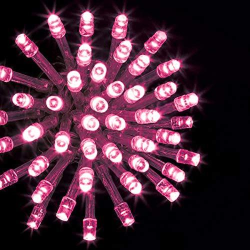 Guirnalda Luces Led de Navidad Luces de Árbol de Navidad Uso Interior/Exterior IP44 Impermeable Cable Transparente (Luz Rosa Pastel, 140 Leds 7M)