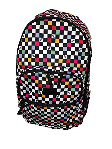 VANS Checkered Multi-Coloured Black BackPack MOTIVATEE 2 laptop Travel Uni School Work