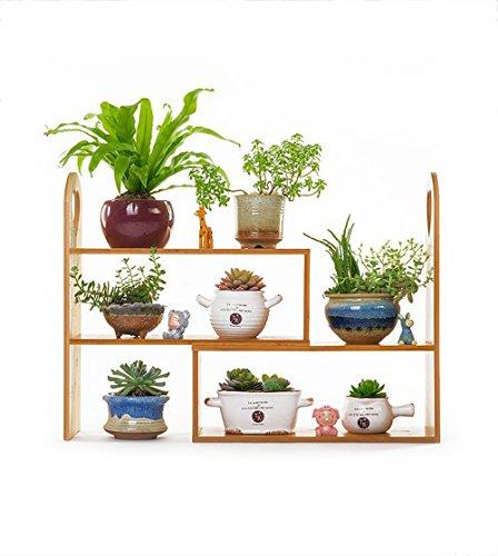 Xuping kleine bloem standaard vensterbank massief hout bureaublad bloem standaard, mini multi-layer opslag plank office boekenplank rack