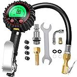 TiGaAT Digital Tire Pressure Gauge Inflator, 200 PSI Easy Tire Gauge Heavy Duty Air Chuck and Compressor Accessories for Car Bike Rv Truck Automobile