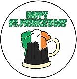 AK Giftshop - Decoración para Tarta de San Patricio, 20 cm, círculo, diseño de Calabaza Irlandesa, Feliz día de San Patricio